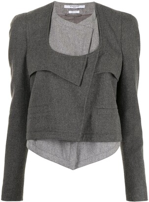Givenchy Pre-Owned Layered Cropped Blazer