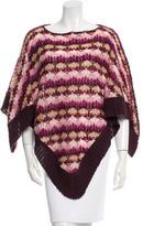 Missoni Pattern Knit Poncho