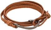 Miansai Matte Black Hook On Leather