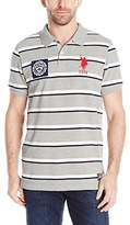 U.S. Polo Assn. Men's Sporty Tri-Stripe Pique Polo Shirt
