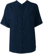 Steffen Schraut flower embellished shirt