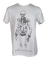 "Zoe Karssen ""biker Skull"" White T-shirt"