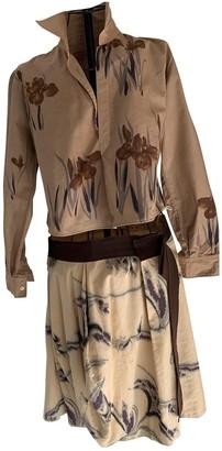 Marni Gold Cotton - elasthane Dresses