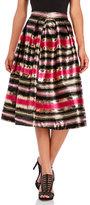 Manish Arora Pleated Jacquard Midi Skirt