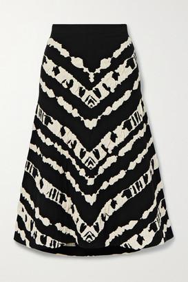 Proenza Schouler White Label Jacquard-knit Midi Skirt - Black