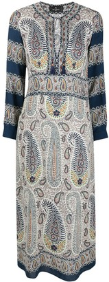 Etro Paisley Print Tie-Neck Dress