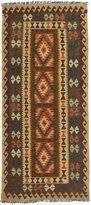 Ecarpetgallery eCarpet Gallery 196613 Hand-Woven Hereke Kilim Geometric 3' x 7' 100% Wool Area Rug