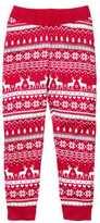H&M Jacquard-knit Pants - Red/reindeer - Kids