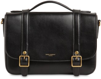 Saint Laurent Mini School Smooth Leather Bag