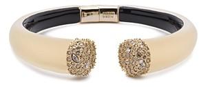 Alexis Bittar Crystal Detail Open Hinge Bracelet
