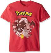 Pokemon Men's Group Shot Of Evolved Sleeve T-Shirt