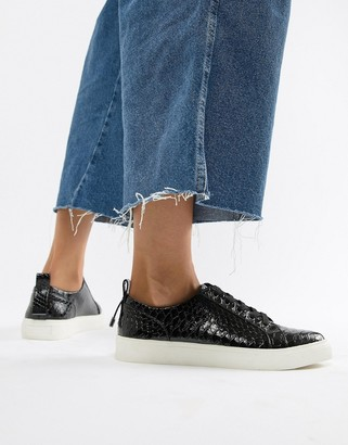 ASOS DESIGN Durban pointed lace up sneakers