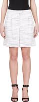 Giambattista Valli Black and Ivory Marled Bermuda Shorts