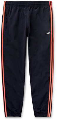 adidas Tapered Logo-Embroidered Striped Shell Track Pants