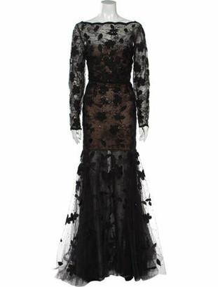 Oscar de la Renta 2018 Long Dress w/ Tags Black