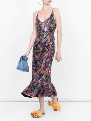 Saloni floral midi dress