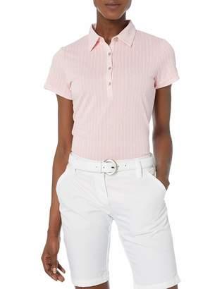 Cutter & Buck Women's Moisture Wicking Cap-Sleeve Leona Printed Polo Shirt