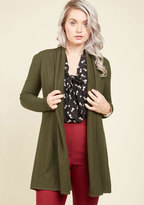 Comfy My Way Cardigan in Olive in 3X