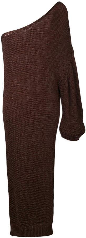 Stella McCartney one-shoulder slit dress