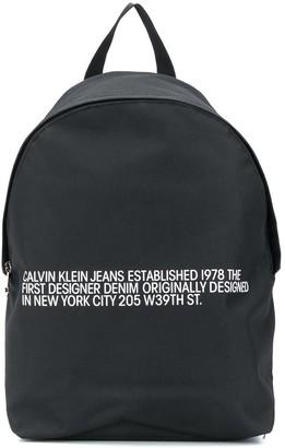 Calvin Klein Round logo-print backpack