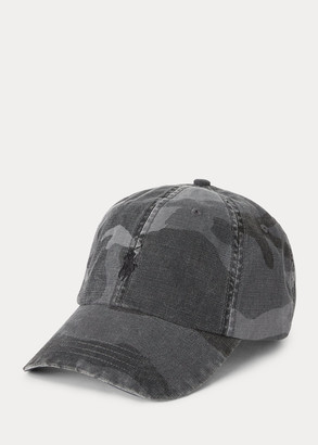 Ralph Lauren Camo Canvas Ball Cap