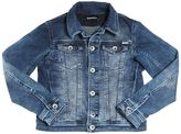 Diesel Denim Effect Cotton Sweatshirt Jacket
