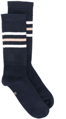 Gucci Striped Jacquard Logo Socks