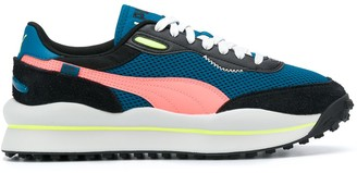 Puma Colour-Block Lace-Up Trainers