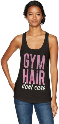 Chin Up Chin-Up Women's Gym Hair Don't Care Ideal Racerback Graphic Tank Top