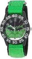 Marvel Boy's 'Hulk' Quartz Plastic and Nylon Automatic Watch, Color: (Model: W003250)