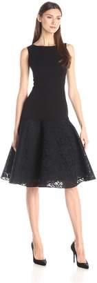Black Halo Women's Vogue Color Block Dress Solid