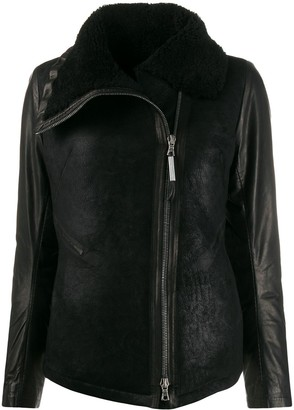 Isaac Sellam Experience asymmetric zipped jacket