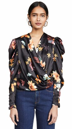 C/Meo Women's Obsessions Princess Sleeve Surplice Wrap Top