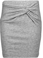 IRO Louisa twisted slub cotton-blend mini skirt
