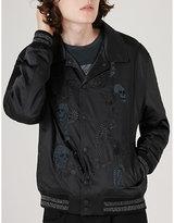 Topman Topman X James Bay Embroidered Varsity Jacket