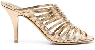 Salvatore Ferragamo Jessa 85mm braided sandals