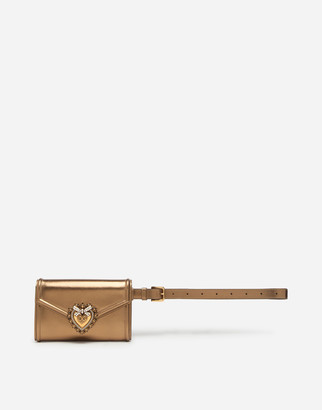 Dolce & Gabbana Devotion Belt Bag In Nappa Mordore Leather