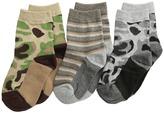 Jefferies Socks Camo Stripe Crew Socks 3 Pack Boys Shoes