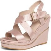Dorothy Perkins Womens Pink 'Rozzy' Wide Fit Wedge Sandals- Pink