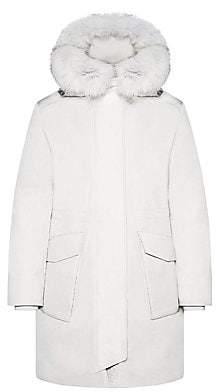 Woolrich Women's Military Fox Trim Parka