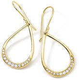 Ippolita 18K Gold Stardust Mini Elliptical Teardrop Earrings with Diamonds