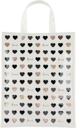 Harrods Medium Glitter Hearts Shopper Bag