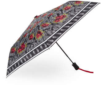Steve Madden Contrast Print Auto Open & Close Umbrella