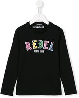 DSQUARED2 embellished rebel print T-shirt