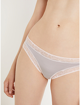 John Lewis AND/OR Phoebe Lace Trim Briefs, Grey