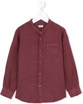Il Gufo grandad collar shirt - kids - Linen/Flax - 4 yrs
