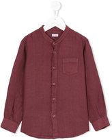 Il Gufo grandad collar shirt - kids - Linen/Flax - 5 yrs