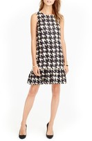 J.Crew Women's Wolfstooth Flounce Silk Dress