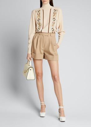 Miu Miu Wool Cuffed Shorts