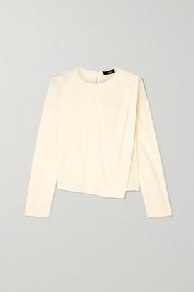 Theory Draped Silk-blend Blouse